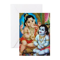 Ganesha and Krishna Cards (Pk of 10)