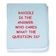 ravioli baby blanket