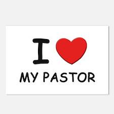 I love pastors Postcards (Package of 8)