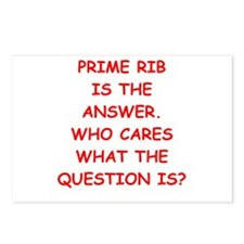prime rib Postcards (Package of 8)