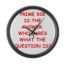 prime rib Large Wall Clock