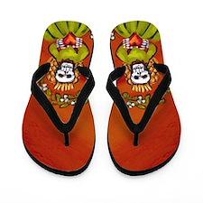 Muerta Skeleton Lady Flip Flops