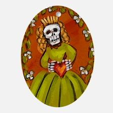Muerta Skeleton Lady Ornament (Oval)