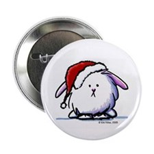 "Holiday Dust Bunny 2.25"" Button"
