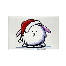Holiday Dust Bunny Rectangle Magnet