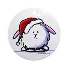 Holiday Dust Bunny Ornament (Round)