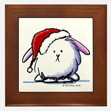 Holiday Dust Bunny Framed Tile