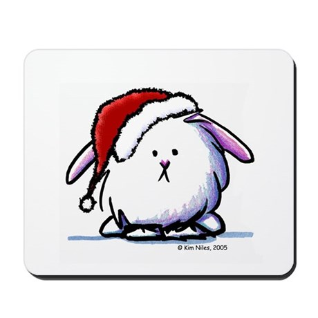 Holiday Dust Bunny Mousepad