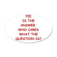 pie Oval Car Magnet