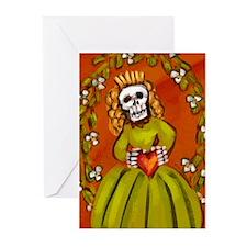 Muerta Skeleton Lady Greeting Cards (Pk of 10)