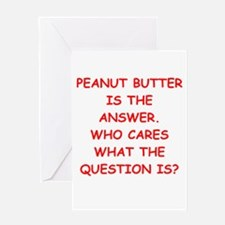PEANUT BUTTER Greeting Card