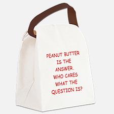 PEANUT BUTTER Canvas Lunch Bag