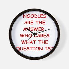 noodles Wall Clock