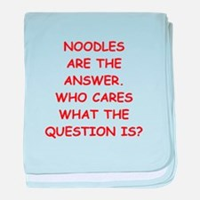 noodles baby blanket