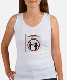 Stupidity will be dealt with a halligan Tank Top