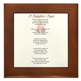 Firefighter prayer Framed Tiles