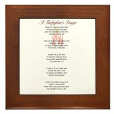 Firefighter's Prayer Framed Tile
