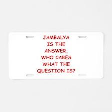 jambalya Aluminum License Plate