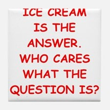 ice cream Tile Coaster