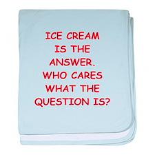 ice cream baby blanket