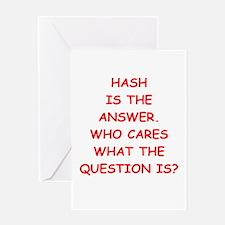 hash Greeting Card
