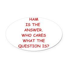 ham Oval Car Magnet