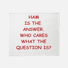 ham Throw Blanket