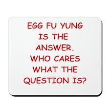 egg fu young Mousepad