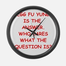 egg fu young Large Wall Clock