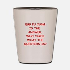 egg fu young Shot Glass