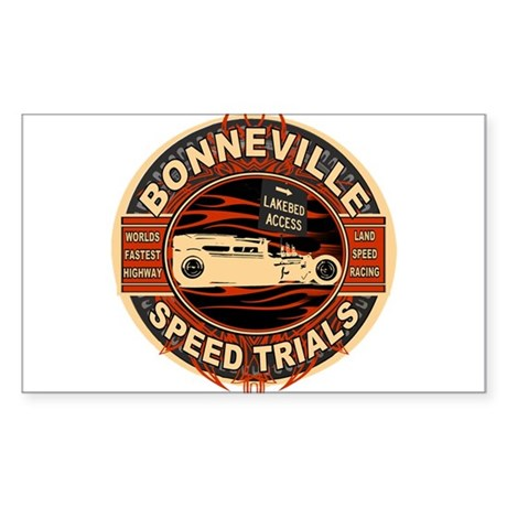 BONNEVILLE SALT FLAT TRIBUTE Oval Sticker