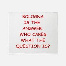 bologna Throw Blanket