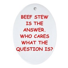 beef stew Ornament (Oval)