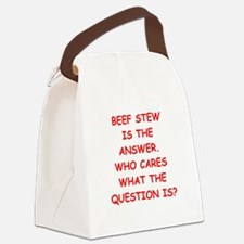 beef stew Canvas Lunch Bag