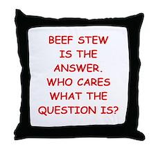beef stew Throw Pillow