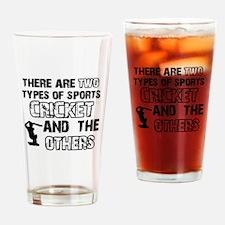 Cricket designs Drinking Glass