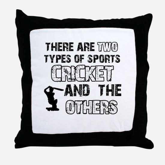 Cricket designs Throw Pillow