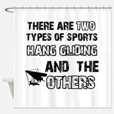 Hang Gliding designs Shower Curtain