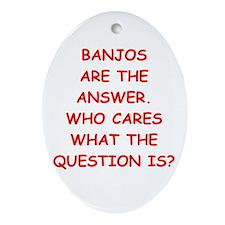 banjo Ornament (Oval)