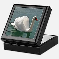 Reflective white swan Keepsake Box