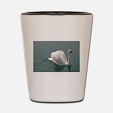 Reflective white swan Shot Glass