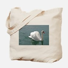 Reflective white swan Tote Bag