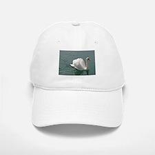 Reflective white swan Baseball Baseball Baseball Cap