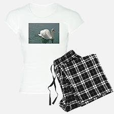Reflective white swan Pyjamas