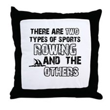 Rowing designs Throw Pillow