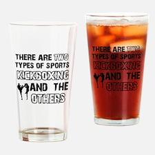 Kickboxing designs Drinking Glass