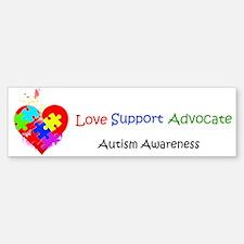 Autism Puzzle on Heart Sticker (Bumper)