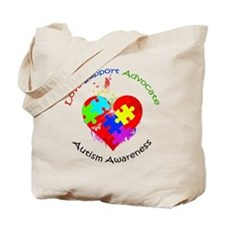 Autism Puzzle on Heart Tote Bag