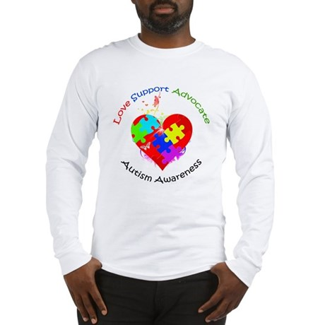 Autism Puzzle on Heart Long Sleeve T-Shirt