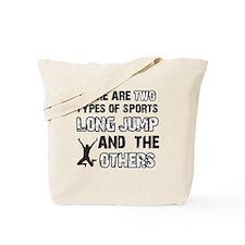 Long Jump designs Tote Bag